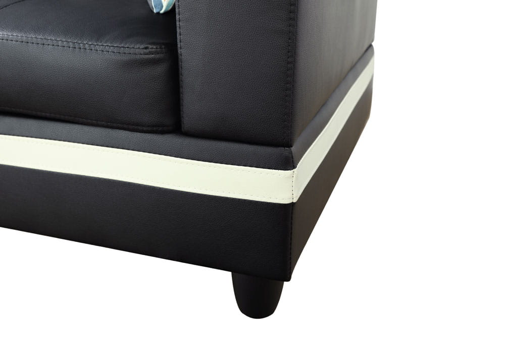 Pappas 103.5'' Sleeper Sectional with Storage Ottoman, Right & Left Hand Facing, Leather Upholstered by Ainehome5
