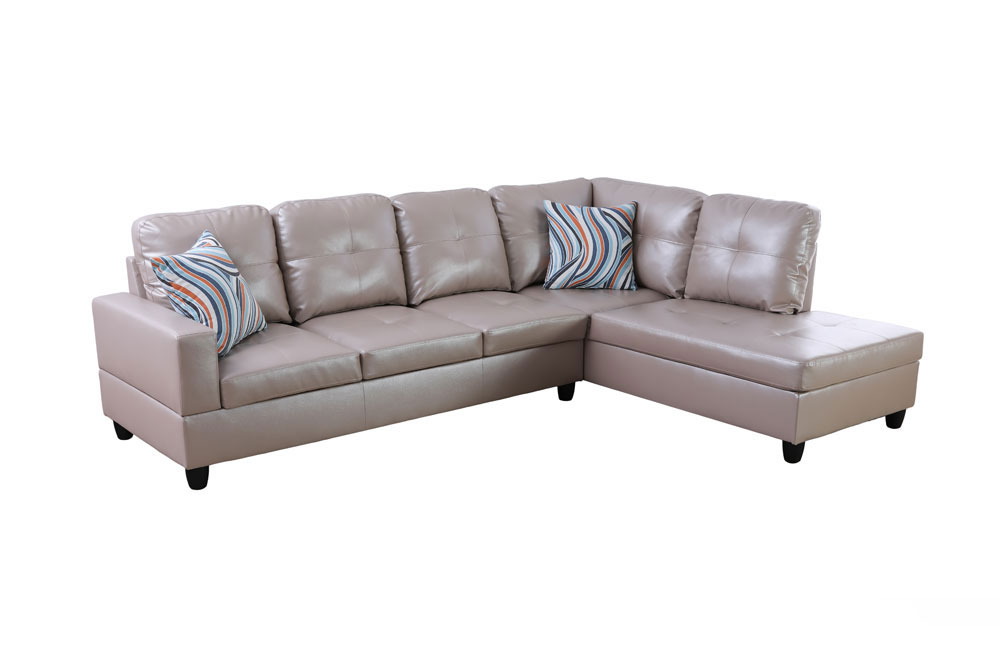 Marlotta 103.5'' Sleeper Sectional with Storage Ottoman, Left & Right Hand Facing, Leather Upholstered by Ainehome5