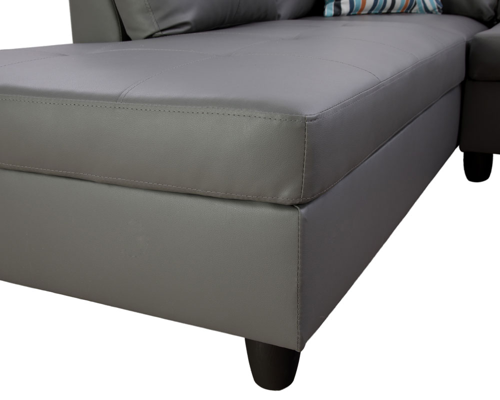 Myrie 103.5'' Sleeper Sectional with Storage Ottoman, Right & Left Hand Facing, Leather Upholstered by Ainehome7