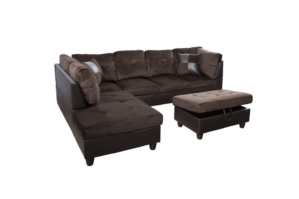 Gazel 103.5'' Sectional Sofa with Storage Ottoman, Right Hand & Left Hand Facing by Ainehome5