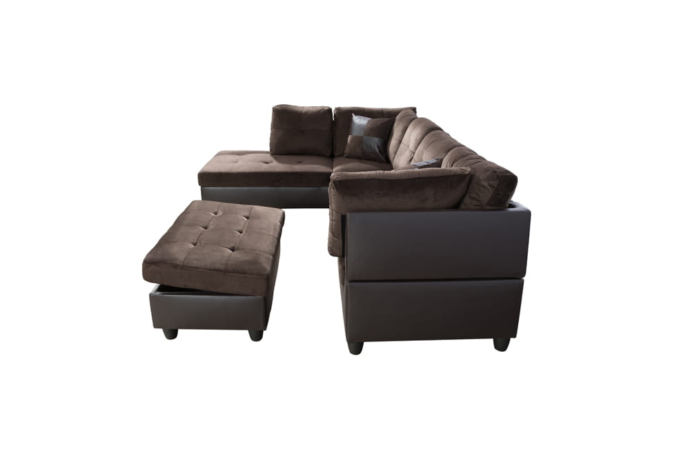 Gazel 103.5'' Sectional Sofa with Storage Ottoman, Right Hand & Left Hand Facing by Ainehome6