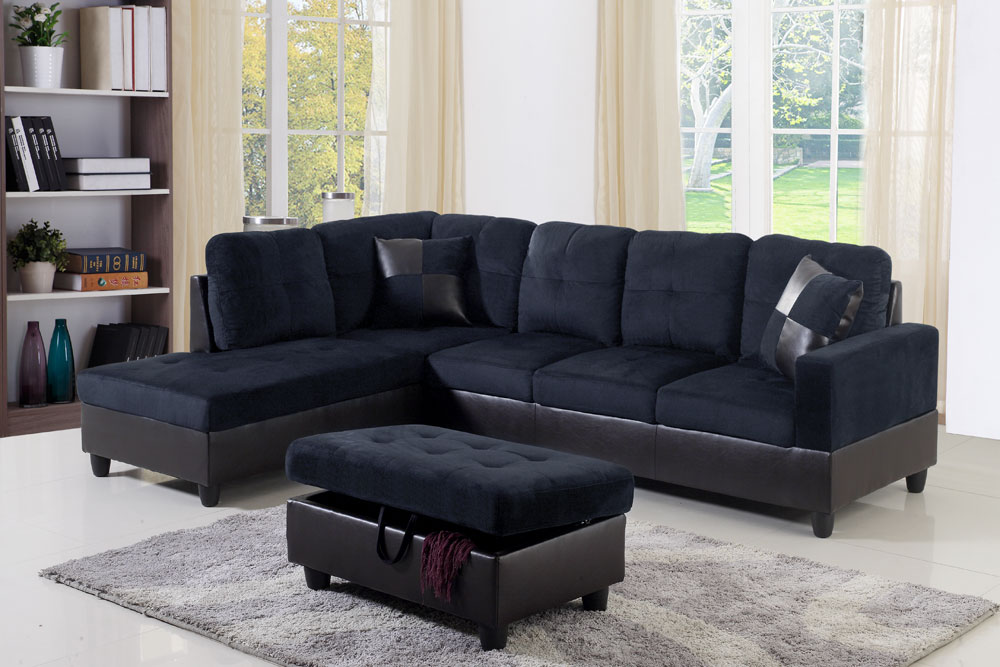 Darkening 103.5'' Sectional Sofa with Storage Ottoman, Right Hand & Left Hand Facing by Ainehome4