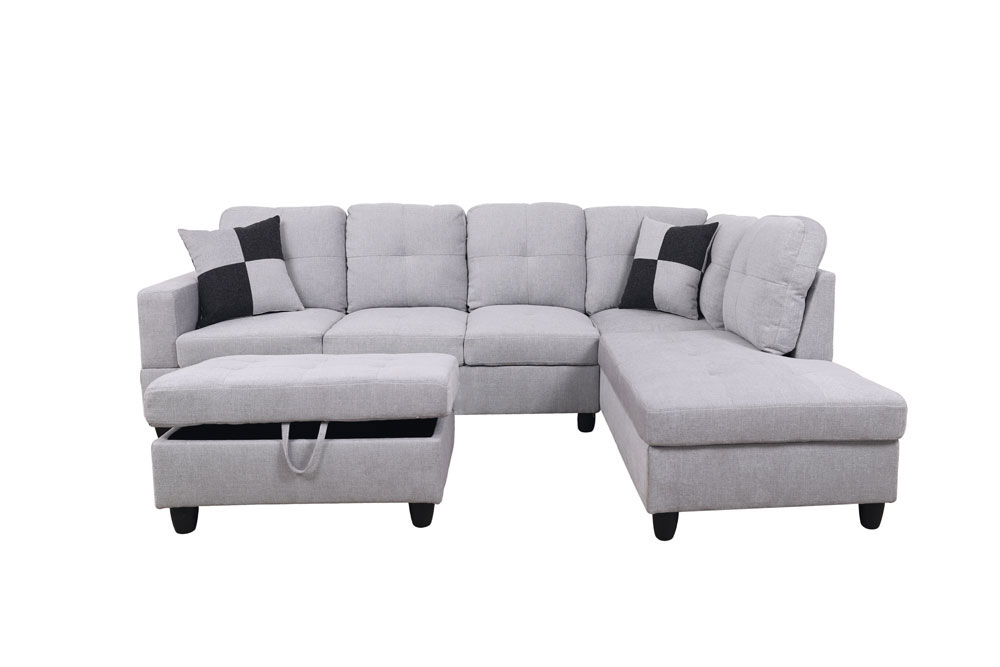 Breeze 106.5'' Sectional Sofa with Storage Ottoman, Left Hand & Right Hand Facing by Ainehome5