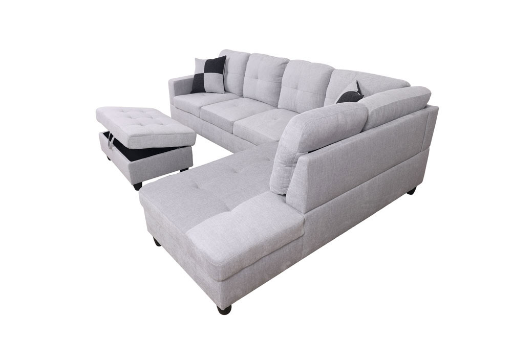 Breeze 106.5'' Sectional Sofa with Storage Ottoman, Left Hand & Right Hand Facing by Ainehome4