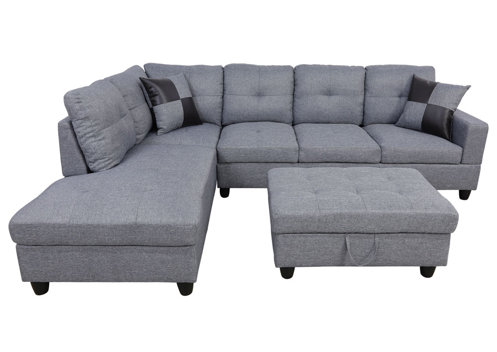 Wonderland 106.5'' Sectional Sofa with Storage Ottoman, Left Hand & Right Hand Facing by Ainehome2