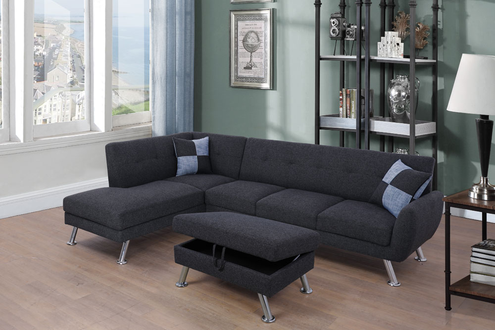 Maghin 104'' Sectional Sofa with Storage Ottoman, Left & Right Facing by Ainehome1