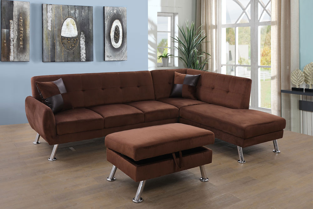 Tyronza 104'' Sectional Sofa with Storage Ottoman, Left & Right Hand Facing by Ainehome1