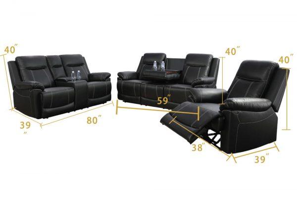 american furniture recliner spring black size