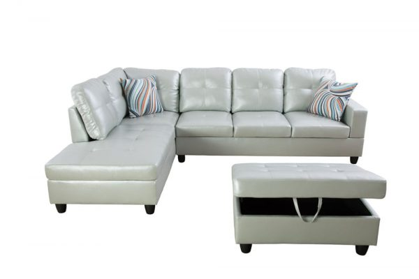 american made leather sectional sofas front