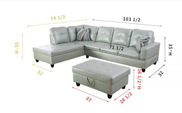 apartment size leather sectional sofa with chaise