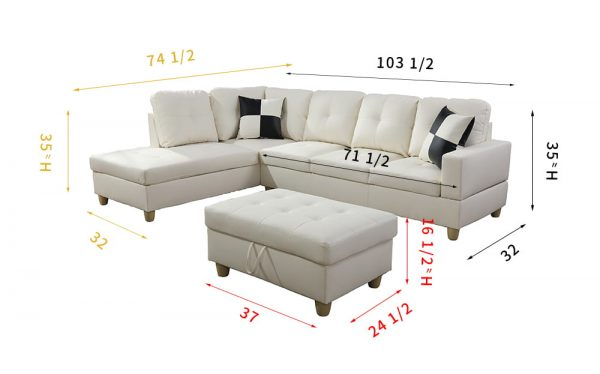 best affordable leather sectional sofa