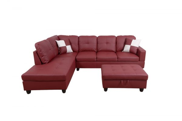 best comfortable and plush sectional sofa front