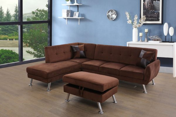 best deals on microfiber sectional sofas