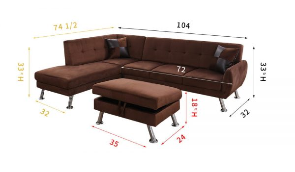 best deals on microfiber sectional sofas size