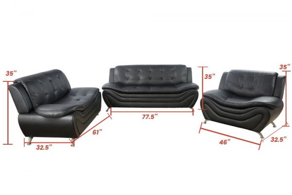 best living room sets leather sectional size