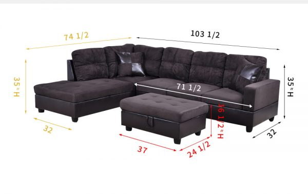 best looking sectional sofa size