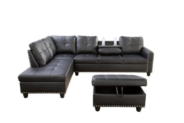 best modern leather sectional sofa front