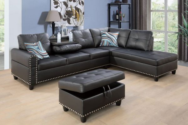 best modern leather sectional sofa right