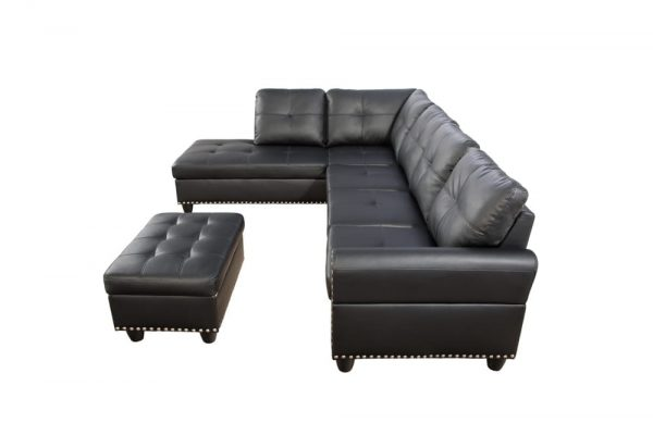 best modern leather sectional sofa side