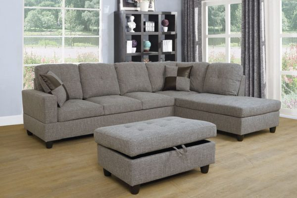 best price linen sectional sofa right