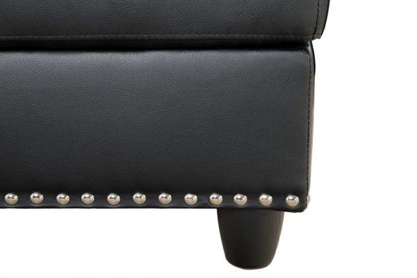 black modern sectional sofa