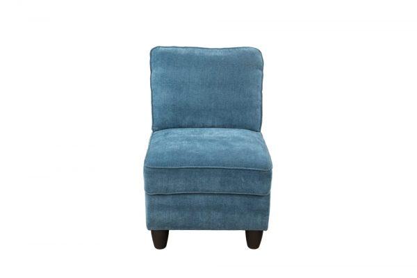 blue modular sectional sofa chair