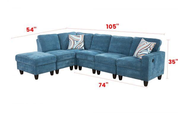 blue modular sectional sofa right