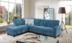 blue modular sectional sofa