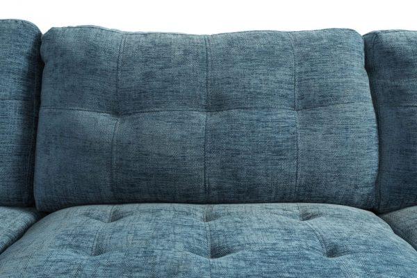 blue sectional linen sofa