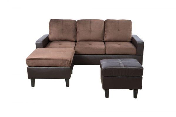 brown modern sectional sofa