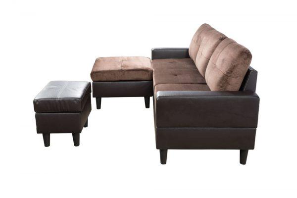 down modern sectional sofa side