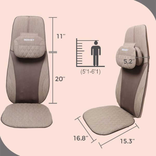 electric back massager size