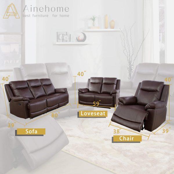 elegant recliner chair size
