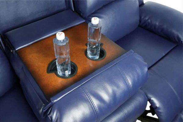 elran leather reclining sofa detail