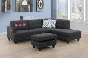 furniture modern microfiber sectional sofa massage right