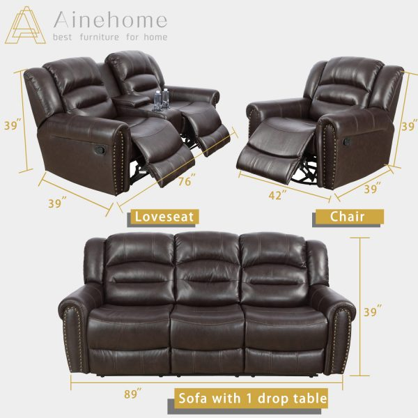 furniture world recliners size