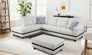 large white leather sectional sofa sences1