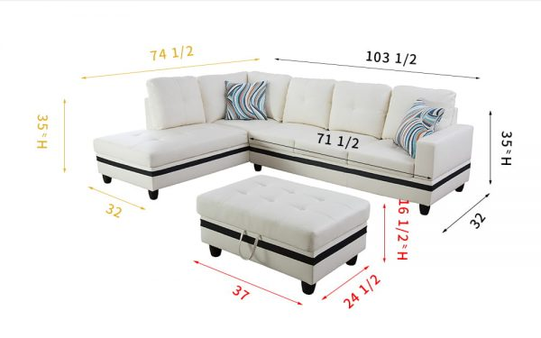 leather look sectional sofa