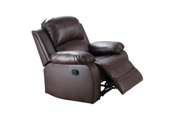 leather reclining loveseat US chair