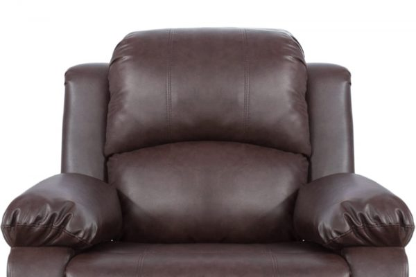 leather reclining loveseat US cushion