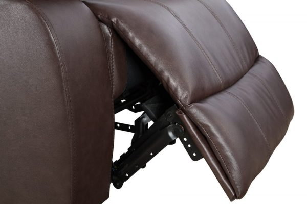 leather reclining loveseat US detail1