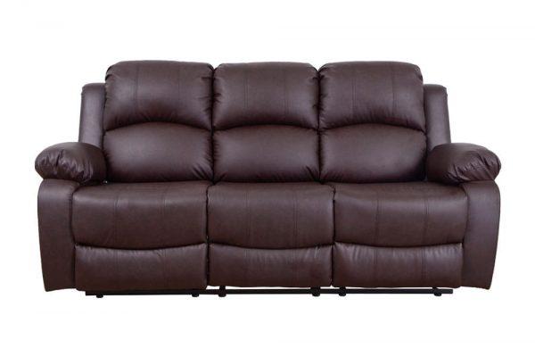 leather reclining loveseat US sofa 1