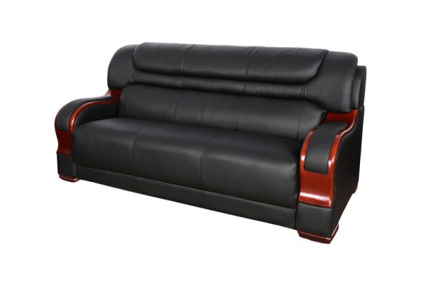 modern black bonded leather small sectional sofa small space configurable side 1