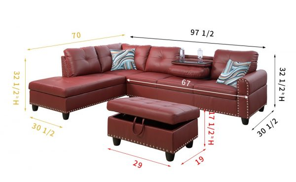 modern leather sectional sofa furniture