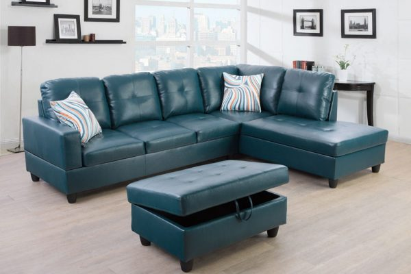 modern leather sectional sofas with chaise right