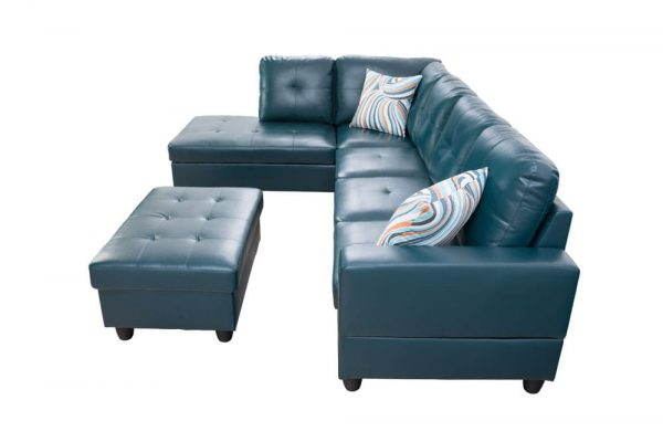 modern leather sectional sofas with chaise side