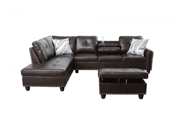 modern retro sectional sofa front