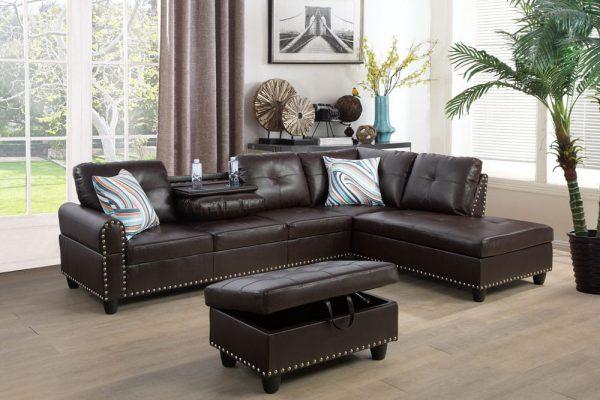 modern retro sectional sofa right