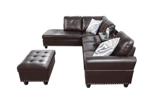 modern retro sectional sofa side