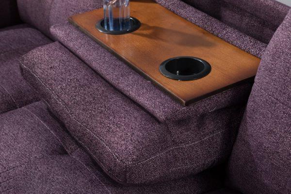 modern sectional sofa with storage rack